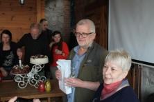 Dziamdziak oraz Barbara Kornacka, prezeska SKPS która przyjęła jego przysięgę na otrzęsinach :)